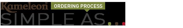Kameleon ordering process Simple as
