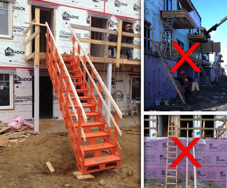 système d'escaliers de chantier modulaire